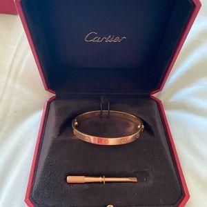 Cartier love Bracelet 17 rosegold